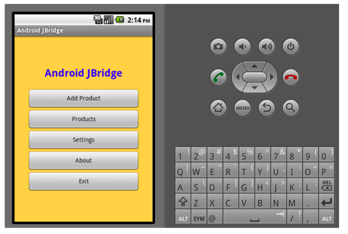 Android JBridge application